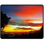Sunset Mountain Indonesia Adventure Fleece Blanket (Medium)  60 x50 Blanket Front