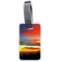 Sunset Mountain Indonesia Adventure Luggage Tags (two Sides)