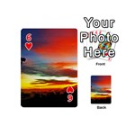 Sunset Mountain Indonesia Adventure Playing Cards 54 (Mini) Front - Heart6