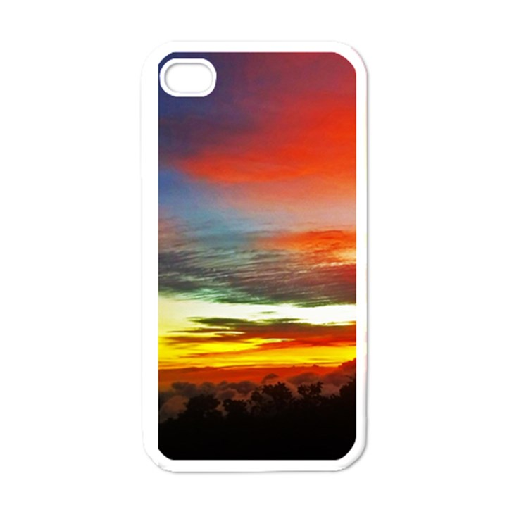 Sunset Mountain Indonesia Adventure Apple iPhone 4 Case (White)