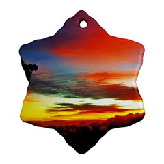 Sunset Mountain Indonesia Adventure Ornament (Snowflake)