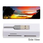 Sunset Mountain Indonesia Adventure Memory Card Reader (Stick) Front