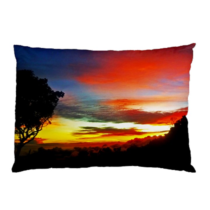 Sunset Mountain Indonesia Adventure Pillow Case (Two Sides)