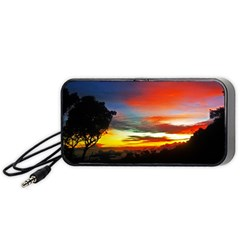 Sunset Mountain Indonesia Adventure Portable Speaker by Nexatart