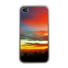 Sunset Mountain Indonesia Adventure Apple iPhone 4 Case (Clear)
