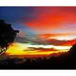 Sunset Mountain Indonesia Adventure Deluxe Canvas 14  x 11  (Stretched) 14  x 11  x 1.5  Stretched Canvas
