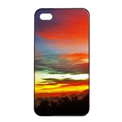 Sunset Mountain Indonesia Adventure Apple iPhone 4/4s Seamless Case (Black)