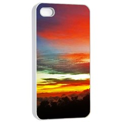 Sunset Mountain Indonesia Adventure Apple iPhone 4/4s Seamless Case (White)