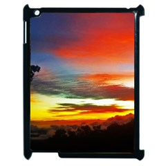 Sunset Mountain Indonesia Adventure Apple Ipad 2 Case (black)
