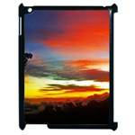 Sunset Mountain Indonesia Adventure Apple iPad 2 Case (Black) Front
