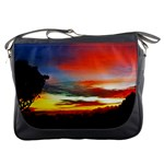 Sunset Mountain Indonesia Adventure Messenger Bag Front