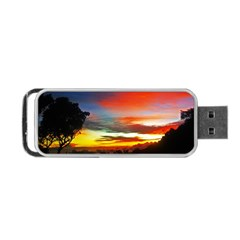 Sunset Mountain Indonesia Adventure Portable Usb Flash (two Sides)