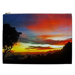 Sunset Mountain Indonesia Adventure Cosmetic Bag (XXL)