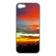 Sunset Mountain Indonesia Adventure Apple iPhone 5 Case (Silver)