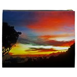 Sunset Mountain Indonesia Adventure Cosmetic Bag (XXXL) Back