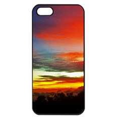 Sunset Mountain Indonesia Adventure Apple Iphone 5 Seamless Case (black)