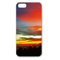 Sunset Mountain Indonesia Adventure Apple Seamless Iphone 5 Case (clear) by Nexatart