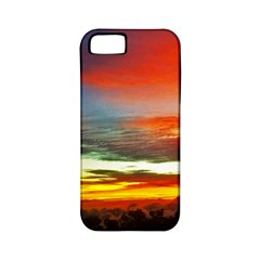 Sunset Mountain Indonesia Adventure Apple iPhone 5 Classic Hardshell Case (PC+Silicone)