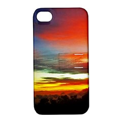 Sunset Mountain Indonesia Adventure Apple iPhone 4/4S Hardshell Case with Stand