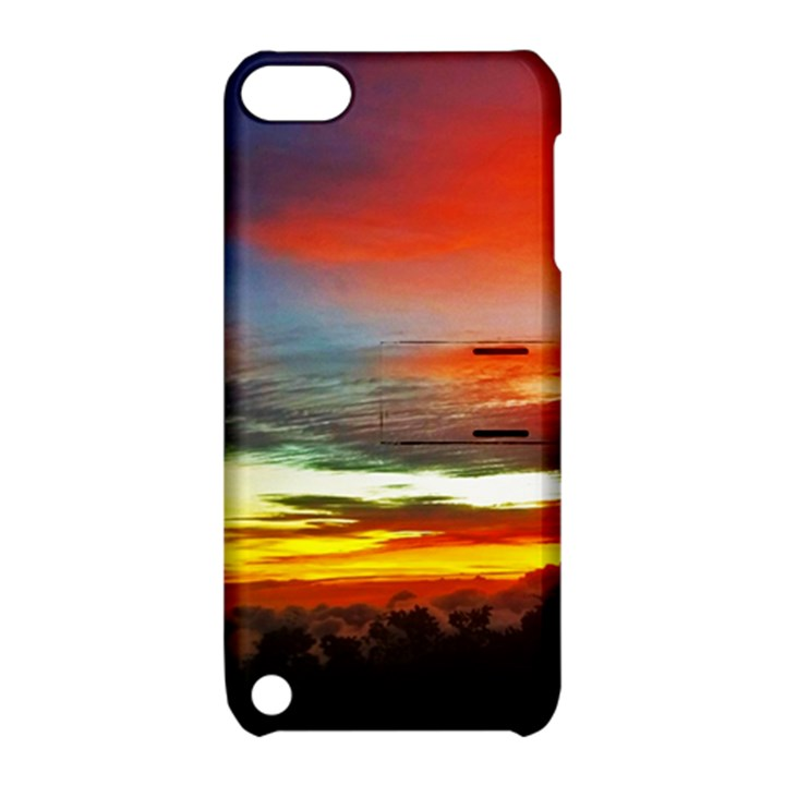 Sunset Mountain Indonesia Adventure Apple iPod Touch 5 Hardshell Case with Stand