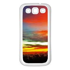 Sunset Mountain Indonesia Adventure Samsung Galaxy S3 Back Case (White)