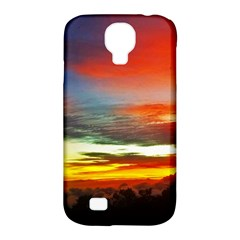 Sunset Mountain Indonesia Adventure Samsung Galaxy S4 Classic Hardshell Case (PC+Silicone)