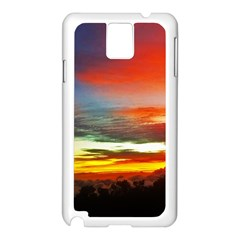 Sunset Mountain Indonesia Adventure Samsung Galaxy Note 3 N9005 Case (white)