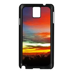 Sunset Mountain Indonesia Adventure Samsung Galaxy Note 3 N9005 Case (Black)