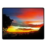 Sunset Mountain Indonesia Adventure Double Sided Fleece Blanket (Small)  45 x34 Blanket Back