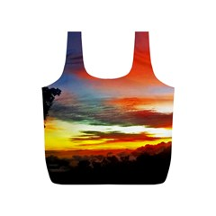 Sunset Mountain Indonesia Adventure Full Print Recycle Bag (S)