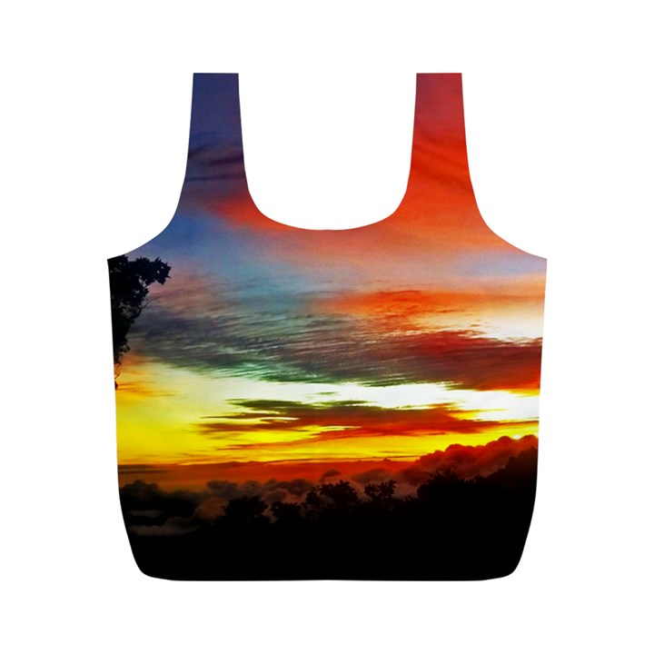 Sunset Mountain Indonesia Adventure Full Print Recycle Bag (M)