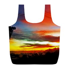 Sunset Mountain Indonesia Adventure Full Print Recycle Bag (L)