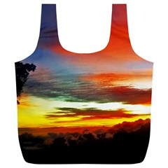 Sunset Mountain Indonesia Adventure Full Print Recycle Bag (XL)