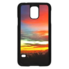 Sunset Mountain Indonesia Adventure Samsung Galaxy S5 Case (Black)