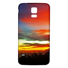 Sunset Mountain Indonesia Adventure Samsung Galaxy S5 Back Case (white)
