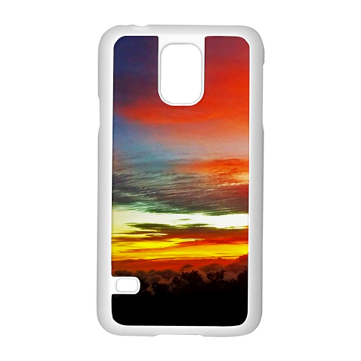 Sunset Mountain Indonesia Adventure Samsung Galaxy S5 Case (White)