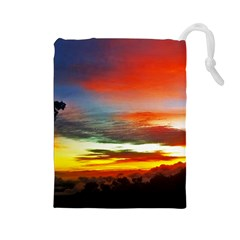 Sunset Mountain Indonesia Adventure Drawstring Pouch (Large)