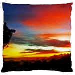 Sunset Mountain Indonesia Adventure Large Flano Cushion Case (One Side) Front