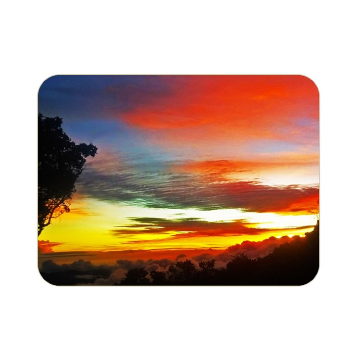 Sunset Mountain Indonesia Adventure Double Sided Flano Blanket (Mini)