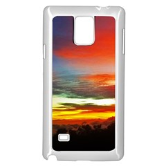 Sunset Mountain Indonesia Adventure Samsung Galaxy Note 4 Case (White)