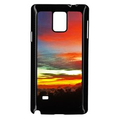 Sunset Mountain Indonesia Adventure Samsung Galaxy Note 4 Case (Black)