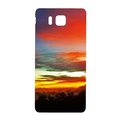 Sunset Mountain Indonesia Adventure Samsung Galaxy Alpha Hardshell Back Case