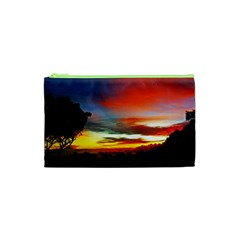 Sunset Mountain Indonesia Adventure Cosmetic Bag (XS)