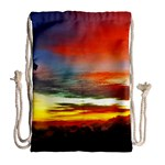 Sunset Mountain Indonesia Adventure Drawstring Bag (Large) Back