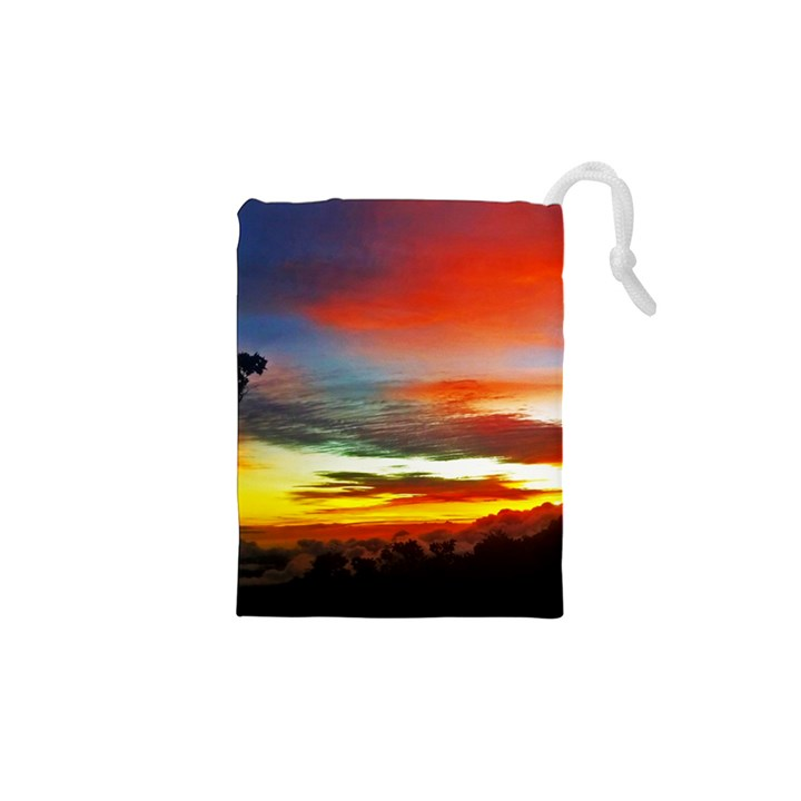 Sunset Mountain Indonesia Adventure Drawstring Pouch (XS)