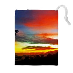 Sunset Mountain Indonesia Adventure Drawstring Pouch (XL)