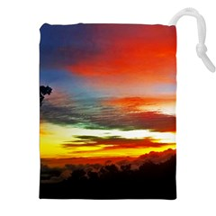Sunset Mountain Indonesia Adventure Drawstring Pouch (XXL)