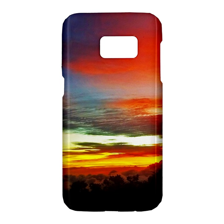 Sunset Mountain Indonesia Adventure Samsung Galaxy S7 Hardshell Case