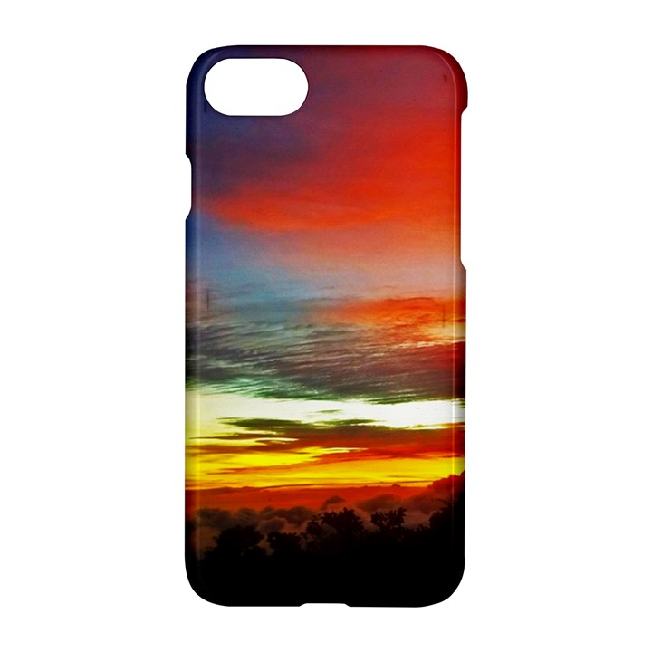 Sunset Mountain Indonesia Adventure Apple iPhone 7 Hardshell Case