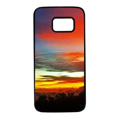 Sunset Mountain Indonesia Adventure Samsung Galaxy S7 Black Seamless Case